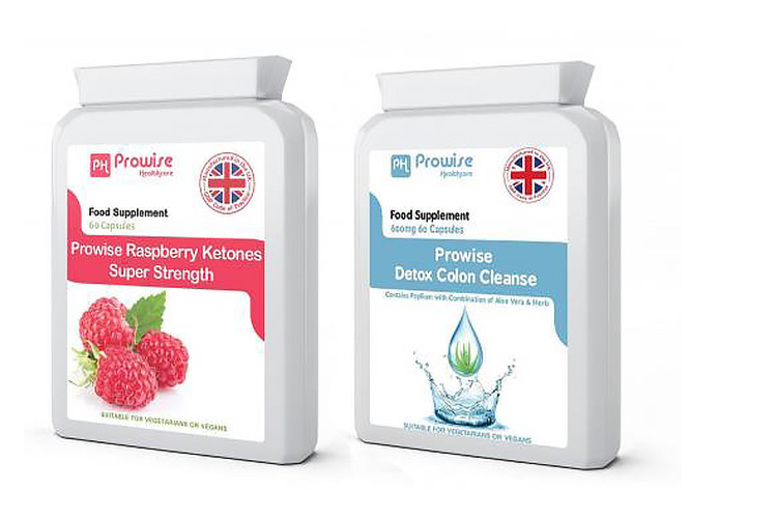 1-Mnth Supply* of Raspberry Ketones & Colon Cleanse Capsules for £9.99