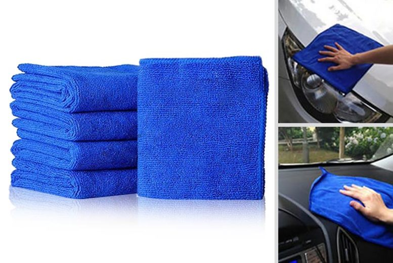 10pk Soft Cleaning Microfibre Cloths (£3.99)