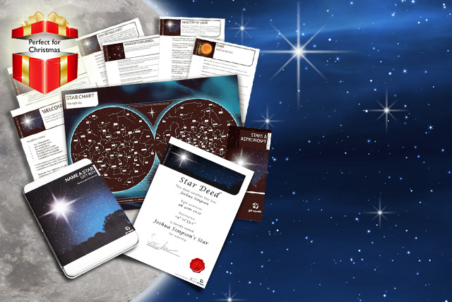 £9.99 instead of £19.99 (from Find Me a Gift) for a 'Name a Star' gift set inc. booklets, constellation poster and more - save 50%