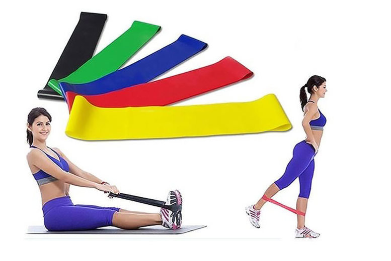 5pc Resistance Exercise Band Set