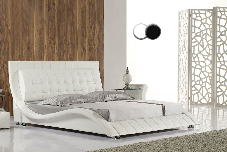 Luxury Designer Andorra Faux Leather Bed