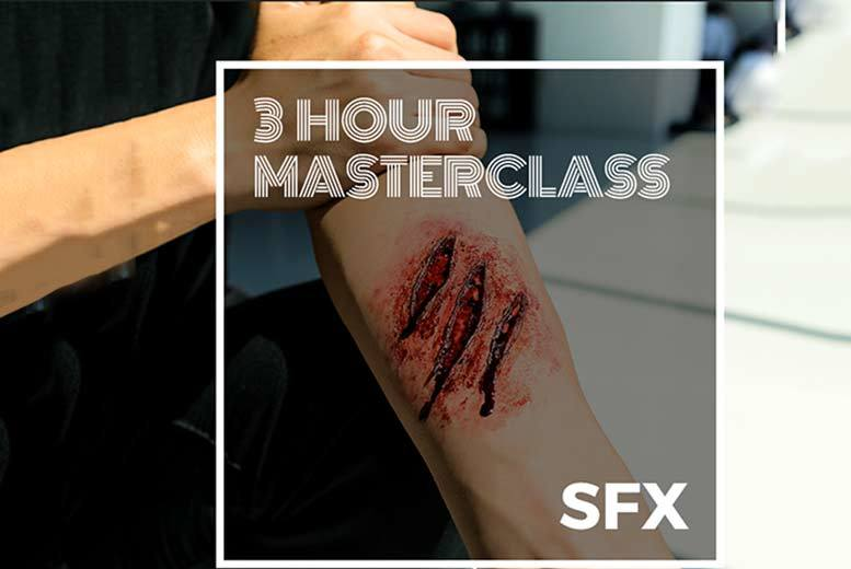 £29 instead of £210 for a three-hour Halloween SFX makeup masterclass with a glass of bubbly with SS Makeup Academy - choose from three locations and save 86%