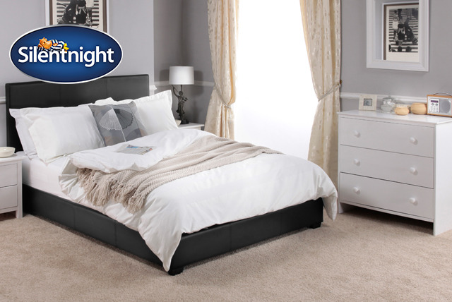 £129 for a Silentnight 'Kennedy' double frame, £229 with a mattress, or £149 for a king frame, £249 with a mattress from Wowcher Direct