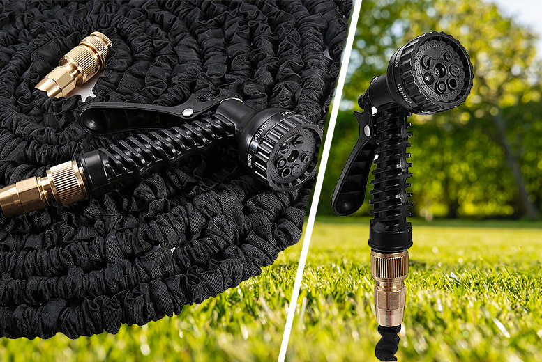 100ft Expandable Garden Hose With Spray Nozzle for £15.99