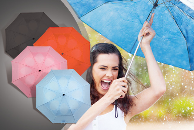 £8.99 instead of £19.99 (from Home Shopping Selections) for a red, pink, blue or black windproof umbrella - stay dry and save 55%