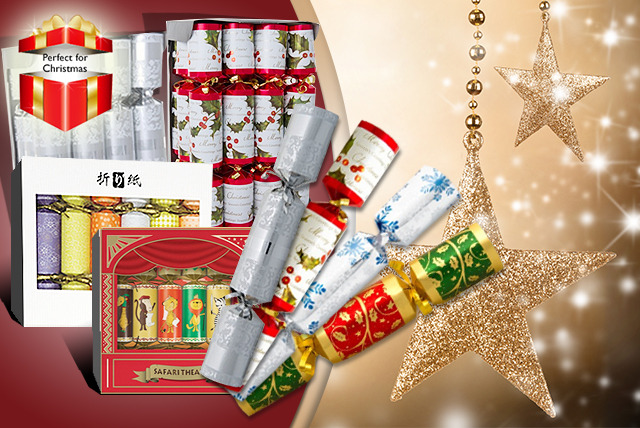 From £7.99 (from Crackers.co.uk) for a set of Christmas crackers - save up to 50%