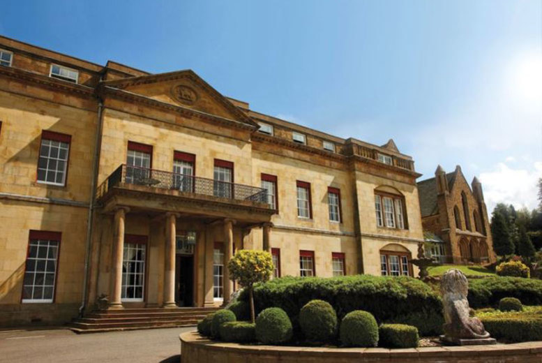 4* Shrigley Hall Spa Retreat, Dinner & Wine for 2 – Afternoon Tea Option!
