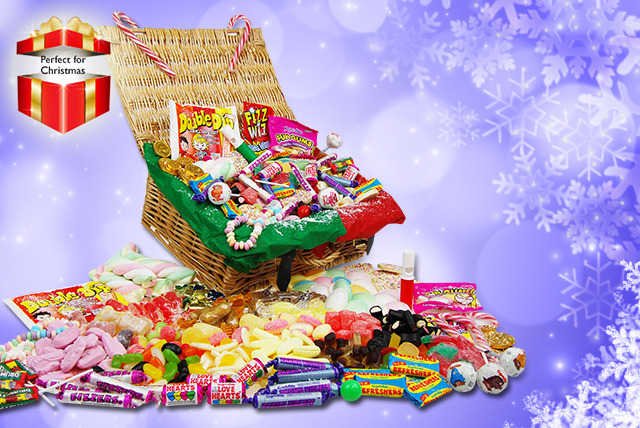 £24.99 instead of £59.99 (from My Sweetie Jar) for a deluxe Christmas sweet hamper filled with retro favourites - save 58%