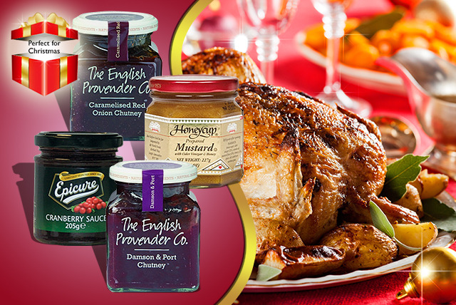 £10.99 instead of £18.99 (from Mood Food) for a festive gourmet condiments bundle inc. cranberry sauce, chutney and more  - save 42%