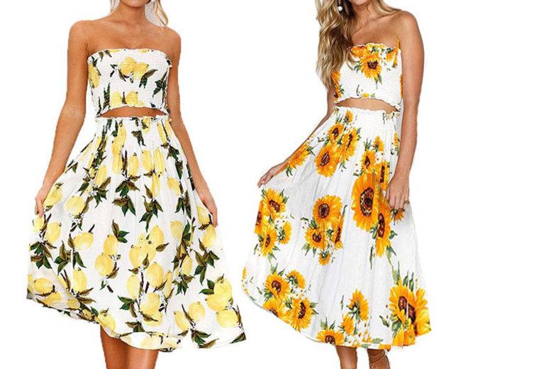 Printed Summer Co-Ord Set – 2 Designs & UK Sizes 8-16!