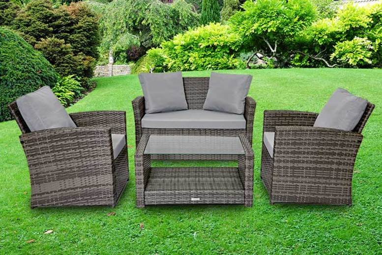 4Seater Roma Rattan Garden Furniture Set  3 Colours!
