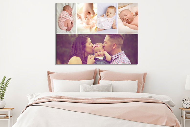 Landscape or Portrait Personalised Collage Canvas  5 Sizes!