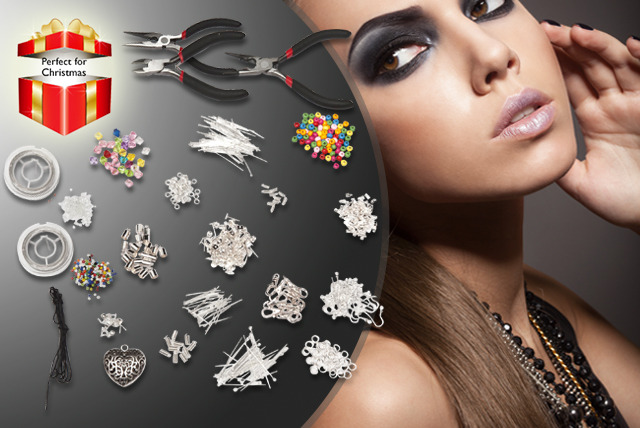 £12.99 instead of £45.99 (from Curtzy) for a large jewellery making kit - save 72%