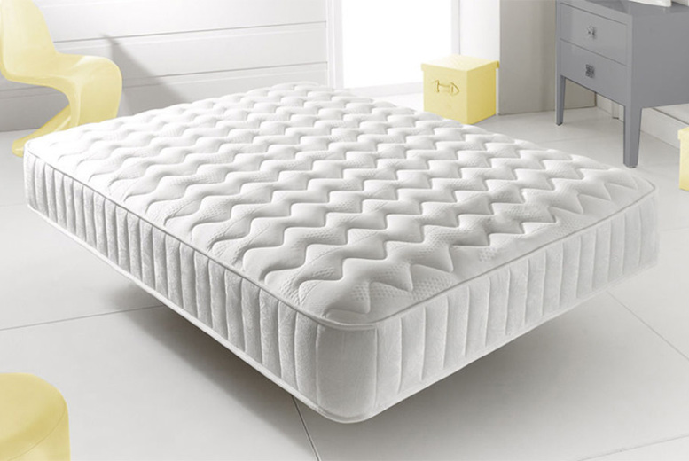 Memory Foam Topped Spring Mattress – 6 Sizes! (£59)