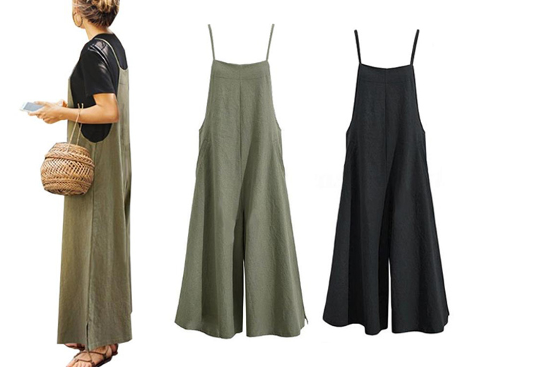 Wide Leg Women's Jumpsuit – UK Sizes 8-20 & 2 Colours!