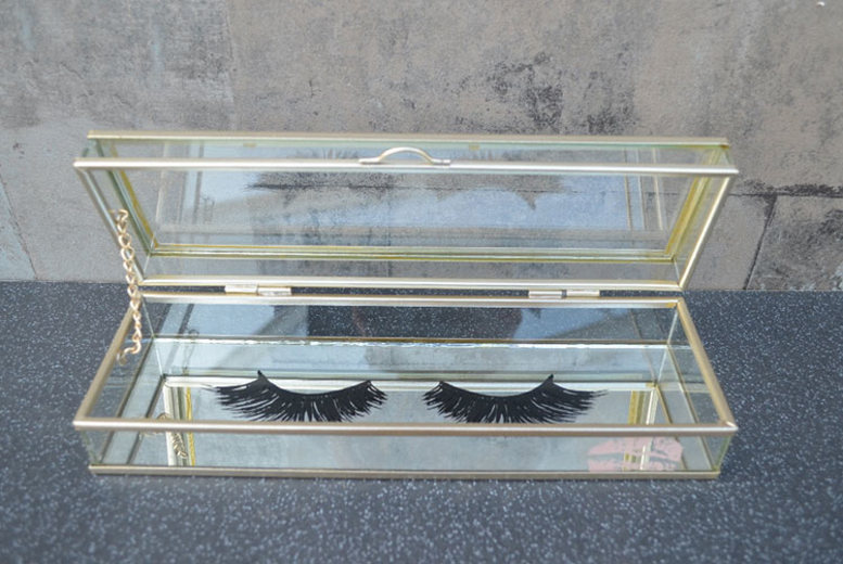 Glass Eyelash Beauty Trinket Box