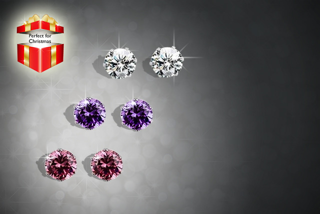 £9 instead of £34.99 (from Marcus Emporium) for three sets of Swarovski Elements stud earrings - save 74%
