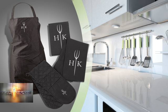 £12 for a 4-piece Hell's Kitchen textile set from Wowcher Direct