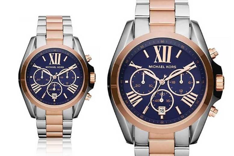 Ladies' Michael Kors Two-Tone Bradshaw MK5606 Watch