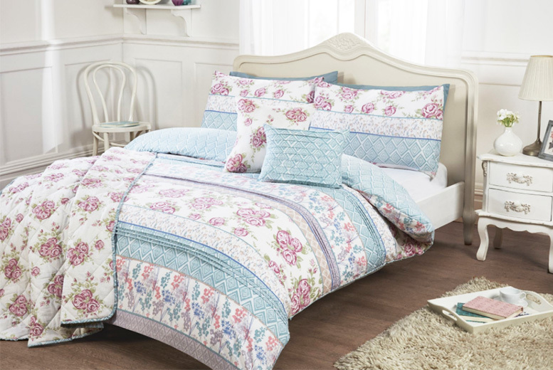 Julia' Retro Floral Duvet Set – 4 Sizes with Throw Option! from £16