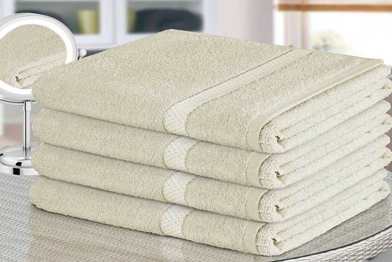 4pc Egyptian Cotton Bath Sheet Set - 11 Colours!
