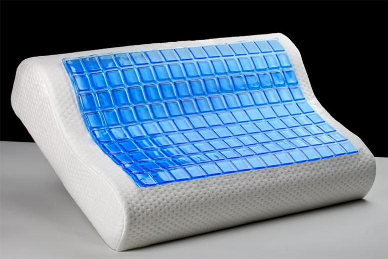 Contour Cooling Gel Memory Foam Pillow - 1 or 2!