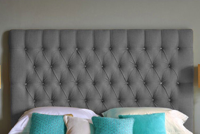 Chesterfield Turin Fabric Headboard – 6 Sizes & 5 Colours! from £39