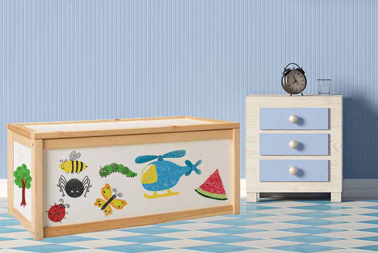 Draw On Wooden Toy Box (Solid pine)