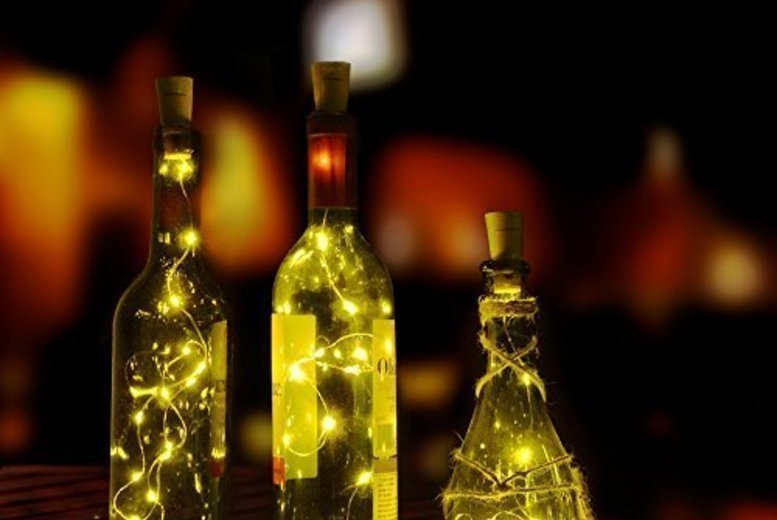 2pc LED Wine Bottle Decorative Lights
