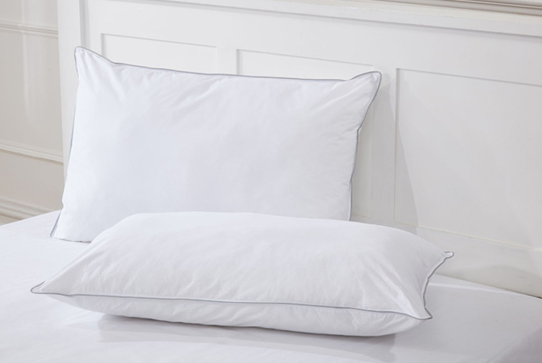 2pk Hotel-Quality Down-Like Cotton Pillows for £14.99