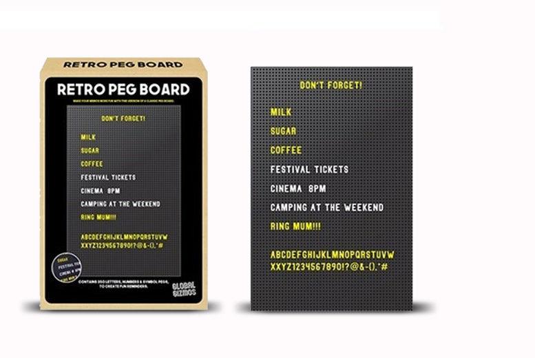 Retro Peg Board & 350 Pegs for £8.99