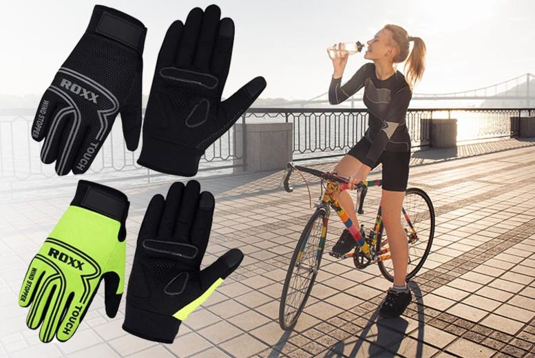Pair of ROXX Sports Gel-Padded Cycling Gloves – 5 Sizes & 2 Colours! (£6.99)