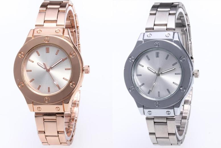 Ladies Rivet Design Watch - 2 Colours!