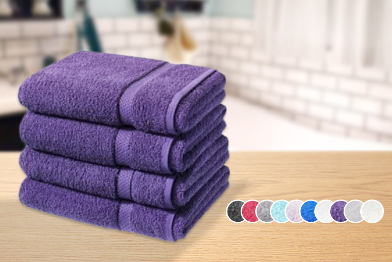 £16.99 instead of £79.99 (from Groundlevel.co.uk) for four super soft Egyptian cotton bath sheets - choose from 10 colours and save 79%