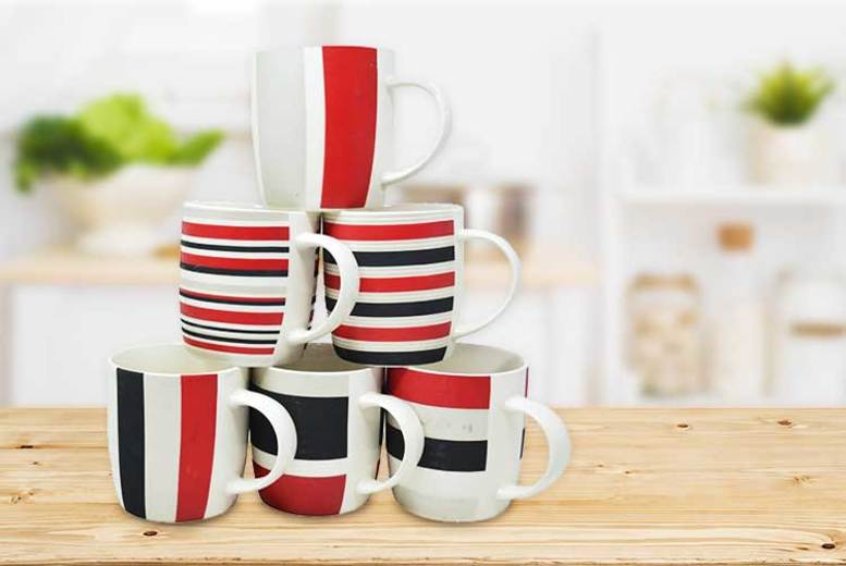 6pc Ceramic Mug Set for £7.99