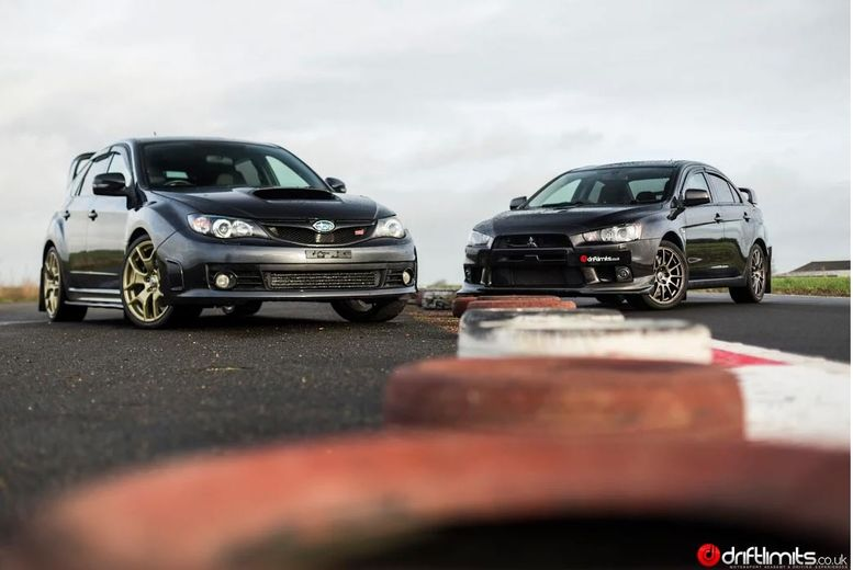 £49 instead of £99 for a Subaru Impreza STI vs Mitsubishi Evolution X driving experience with Drift Limits, Hemel Hempstead - save 51%