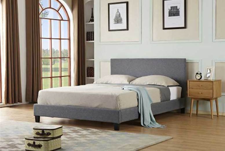 Contemporary Fabric Bedframe – 3 Sizes!