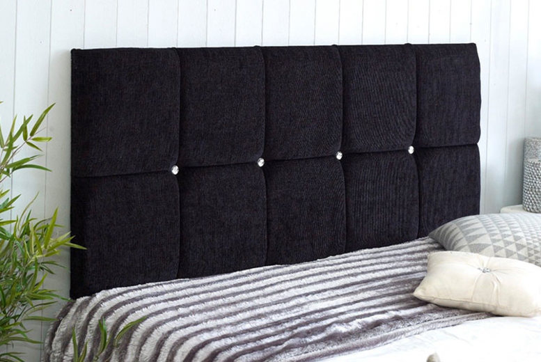 Chenille Fabric Headboard – 6 Sizes and 8 Colours! from £19