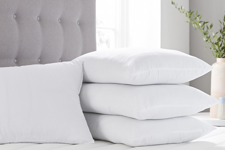 4 Breathable 100% Cotton Pillows for £15.99