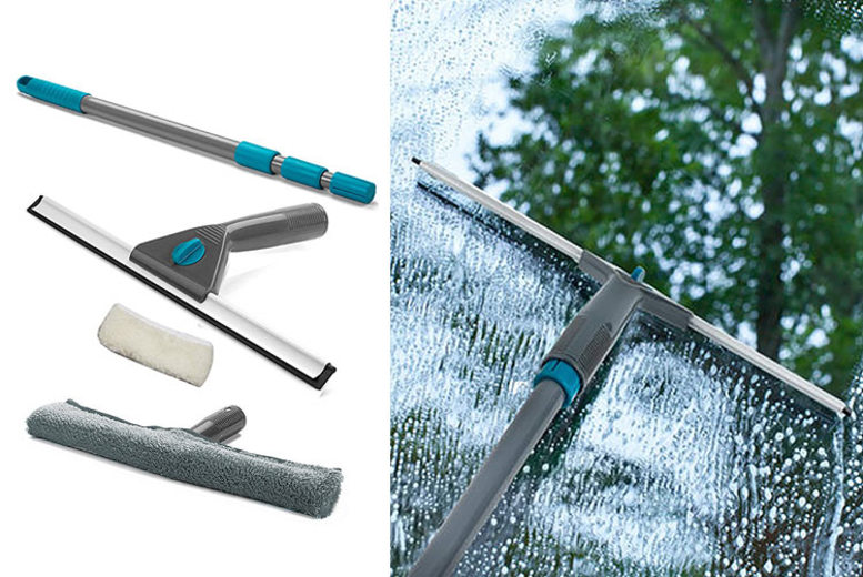 Extendable Telescopic Window Cleaning Kit for £7.99
