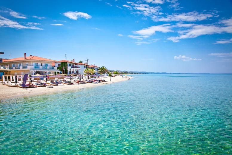 7nt All-Inclusive Halkidiki Beachfront Holiday & Flights