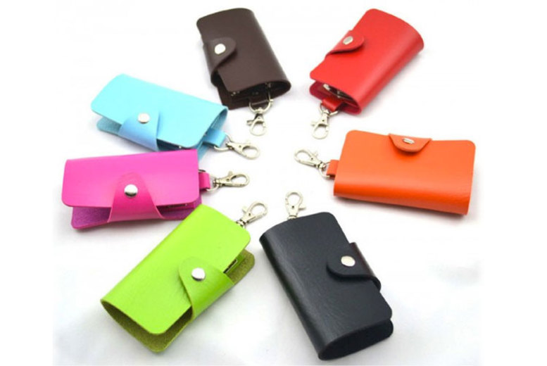 6 Keychain Wallet Holder – 7 Colours! for £2.98