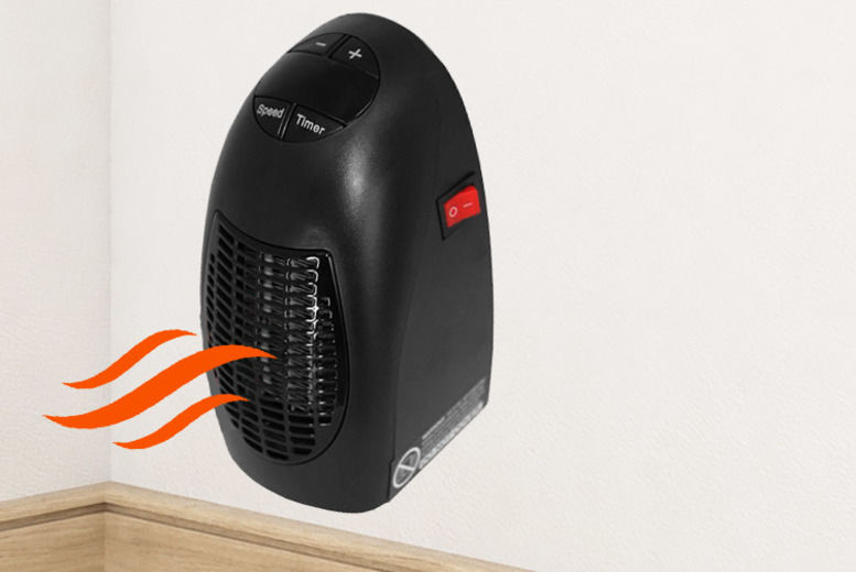 Portable 400W Plug-In Heater w/ Adjustable Thermostat