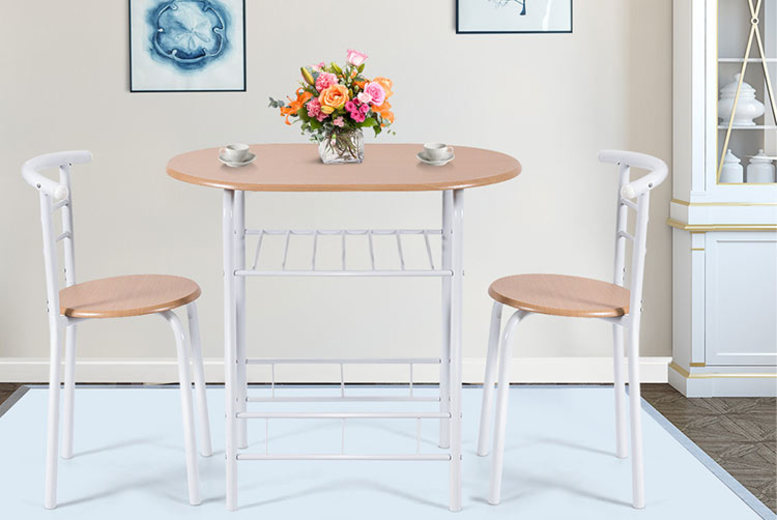 Compact Metal Dining Table & Chairs