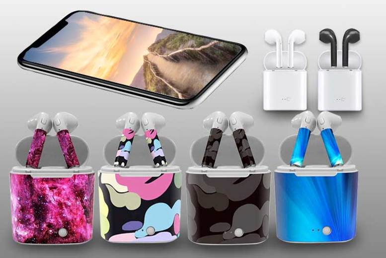 Apple-Compatible Wireless Earphones with Charging Case – 10 Colours