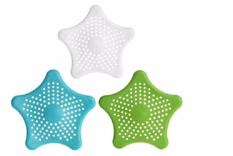 3 Starfish Bathroom & Kitchen Drain Catchers