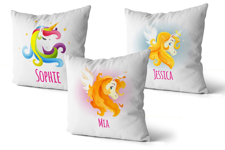 Personalised Unicorn Cushion Cover – 16 Designs!
