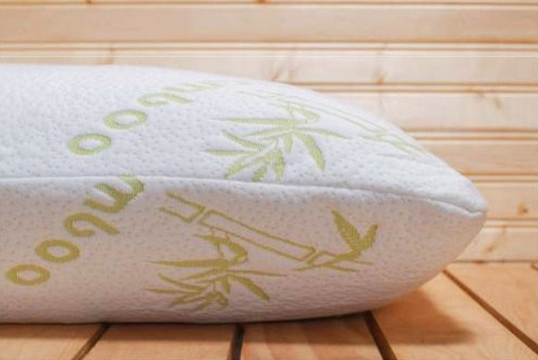 1 or 2 Bamboo Memory Foam Pillows from £9.99