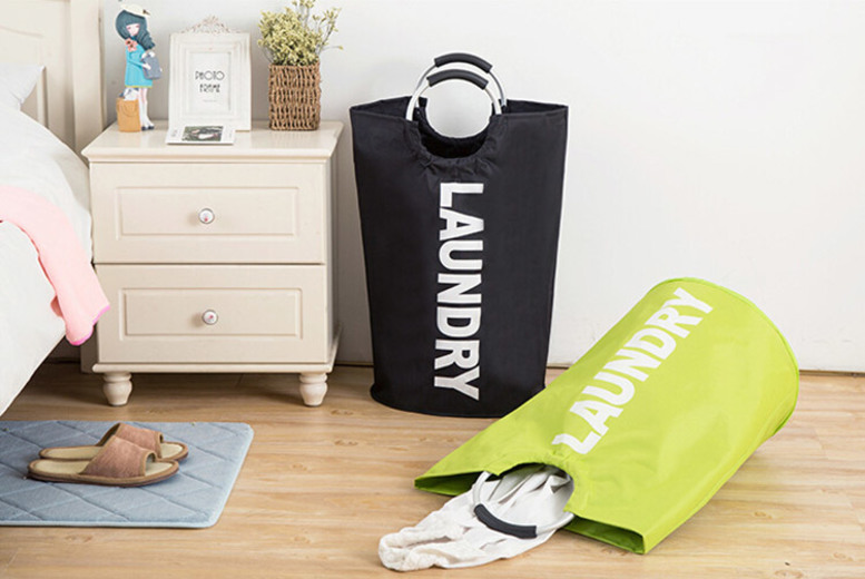 Foldable Clothes Laundry Bag – 6 Colours! for £10.99