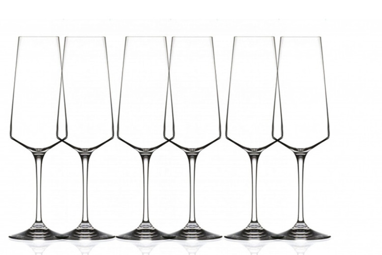 2, 4 or 6 RCR Armonia 35cl Champagne Flutes